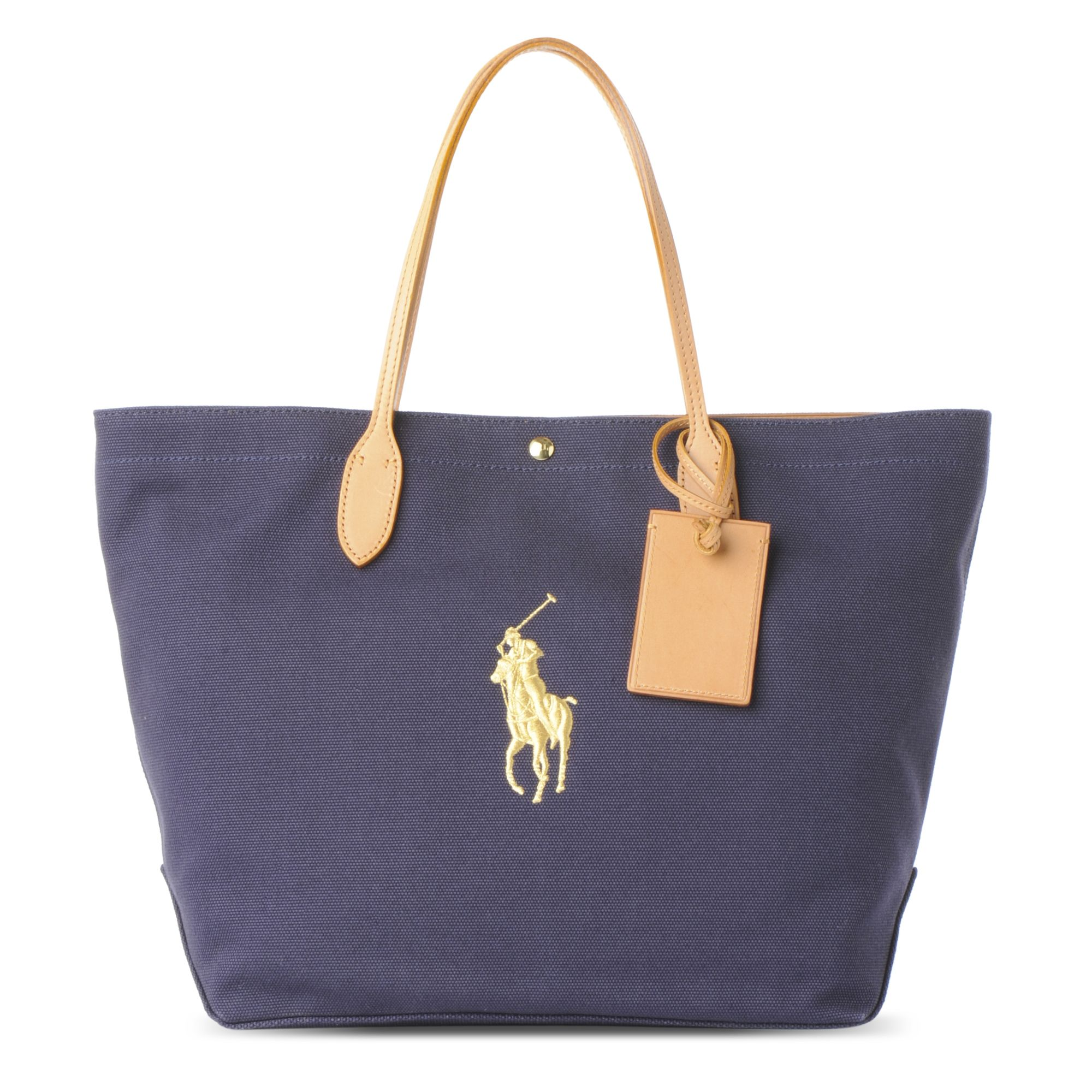 b15092d40235 Ralph Lauren Canvas Tote in Blue - Lyst