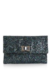 Anya Hindmarch Valorie Glitter Clutch Bag - Lyst