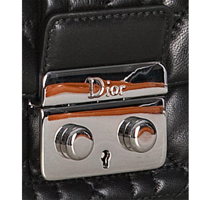 Lyst - Dior Black Quilted Lambskin New Lock Chain Shoulder