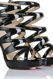 Christian Louboutin Fernando 120 Patent Leather Sandals - Lyst