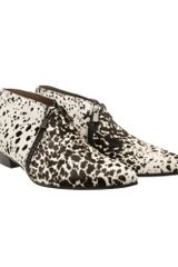 Sigerson Morrison Low Boot in Printed Pony Skin - Lyst
