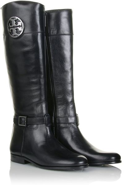 Tory Burch Patterson Leather Boots In Black Lyst