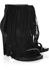 Alexander Wang Dree Fringed Leather Sandals - Lyst