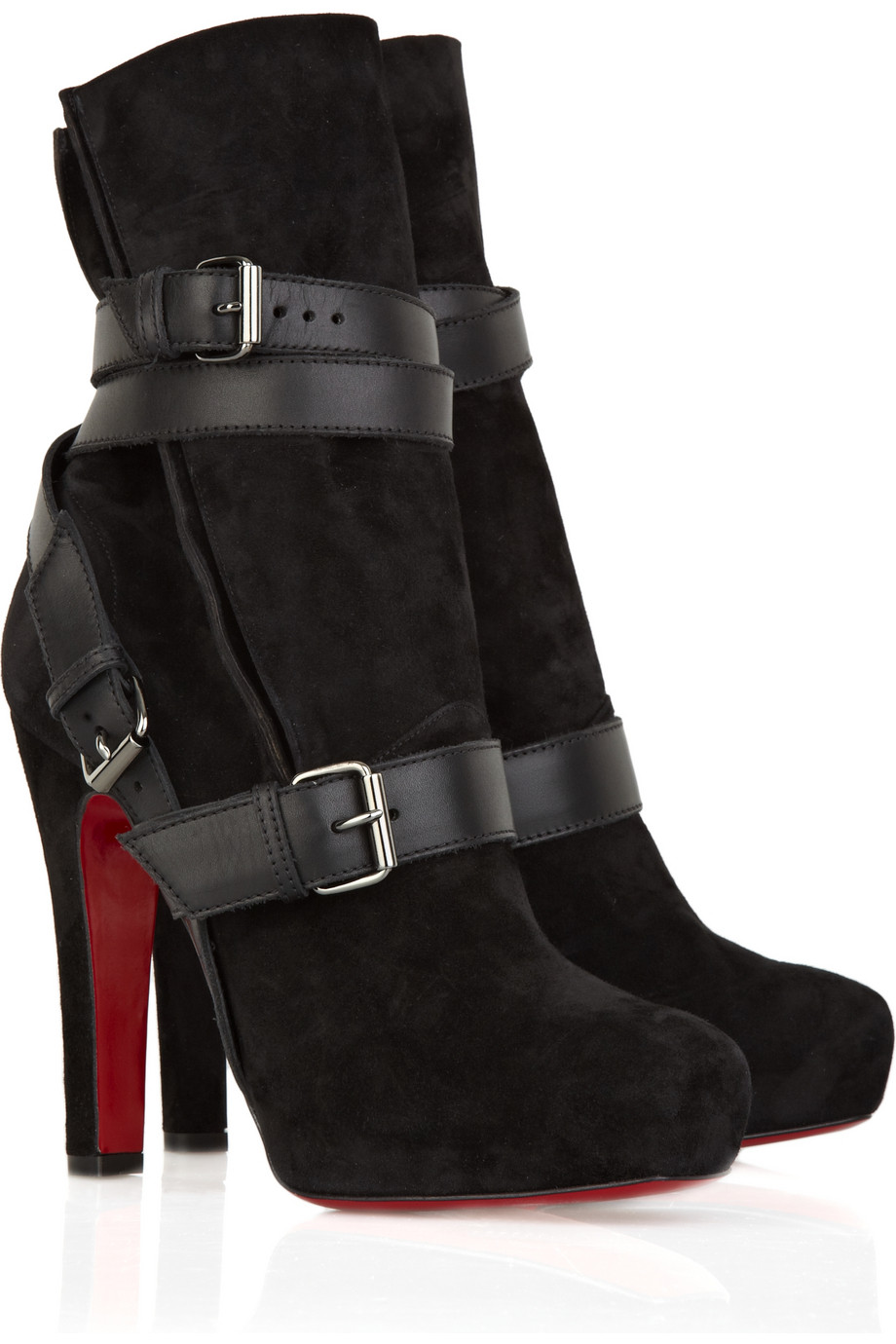 christian louboutin black suede ankle boots - Obsidian Wellness Centre
