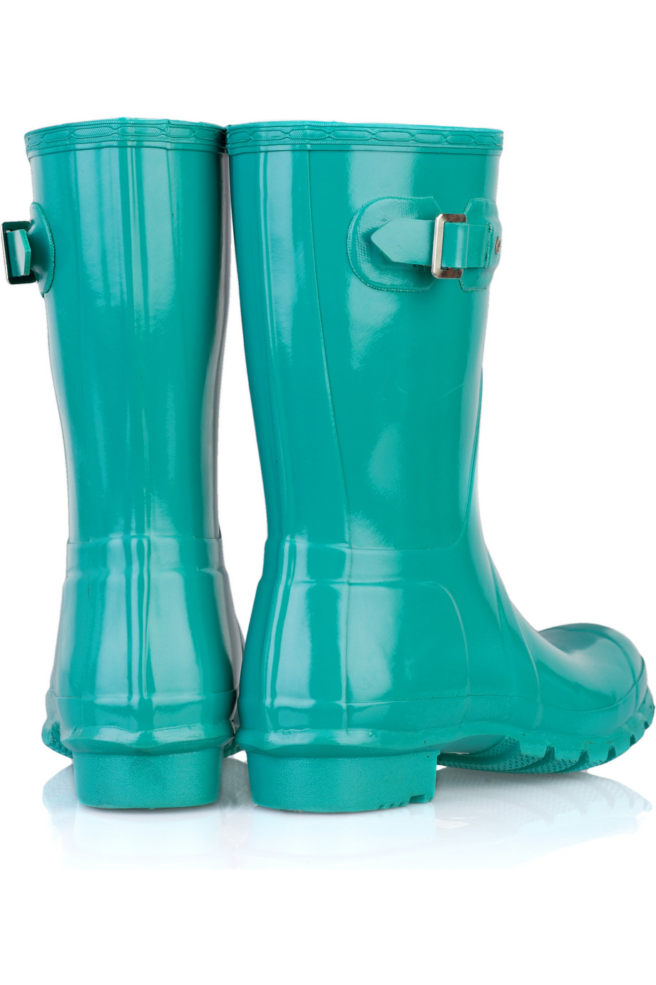 Hunter Original Short Wellington Boots In Blue Lyst