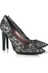 Stella McCartney Lace-covered Pumps - Lyst