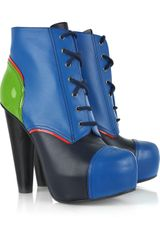 Versace Leather Platform Ankle Boots - Lyst