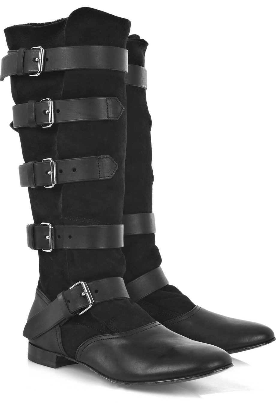 Vivienne Westwood Shearling Lined Pirate Boots In Black Lyst