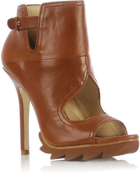 camilla skovgaard cut out ankle boots in brown lyst