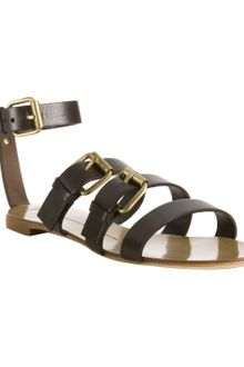 Giuseppe Zanotti Chocolate Leather Buckle Gladiator Sandals - Lyst