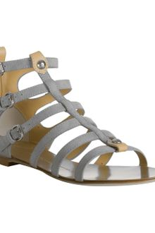 Giuseppe Zanotti Grey Suede Open Toe Gladiator Sandals - Lyst