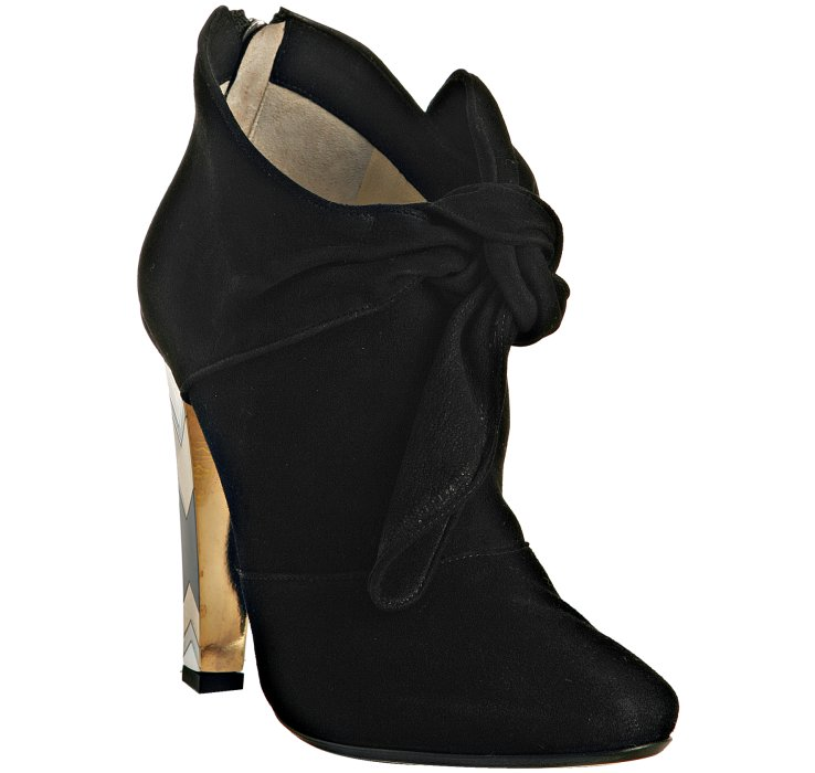 Promo Code For Jimmy Choo Ankle Booties - Shoes Jimmy Choo Black Black Suede Erica Knot Detail Ankle Boots Leather