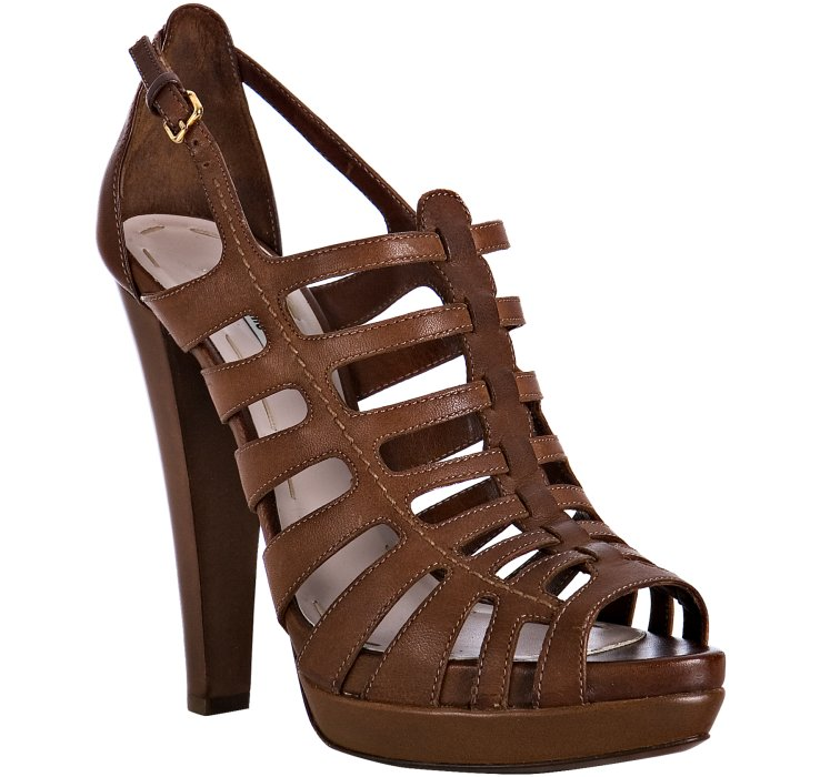 Miu Miu Cage Leather Sandals outlet reliable WoGBo