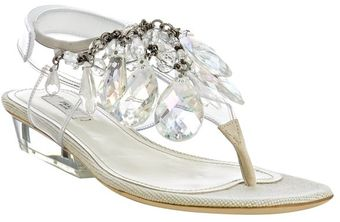 Prada Natural Pvc Crystal Drop Thong Sandals - Lyst