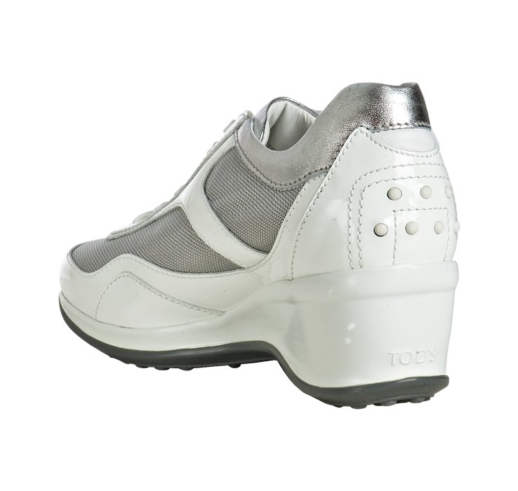 buy cheap fake cheap wholesale price Tod's Leather Wedge Sneakers sale hot sale rvGpG