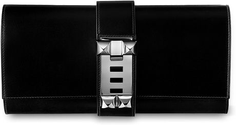 Hermes Medor Clutch in Black - Lyst