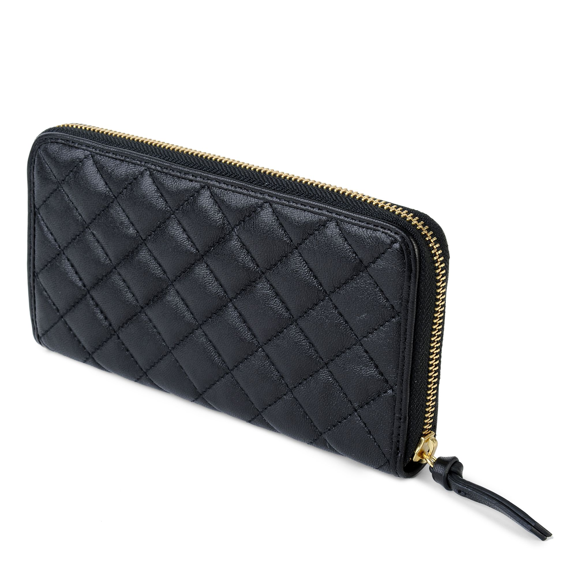 Dkny Black Quilted Leather Purse | Womans Wallets & Purses : black quilted wallet - Adamdwight.com