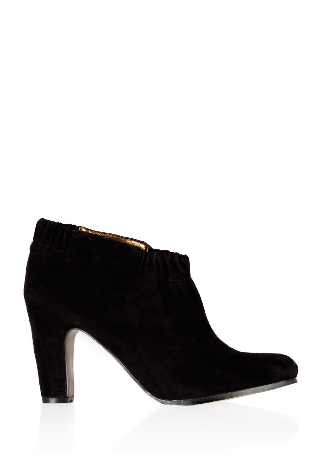 sam edelman black suede ankle boot in black lyst