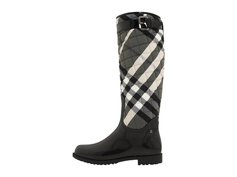 Lyst - Burberry Quilted Check Print Rain Boot in Black : burberry quilted rain boots - Adamdwight.com