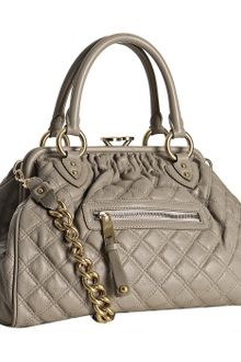 Marc Jacobs Grey Quilted Leather Stam Handbag - Lyst