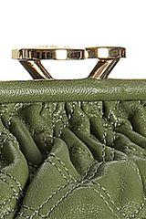 Marc Jacobs Olive Quilted Leather Stam Handbag in Green (olive) - Lyst