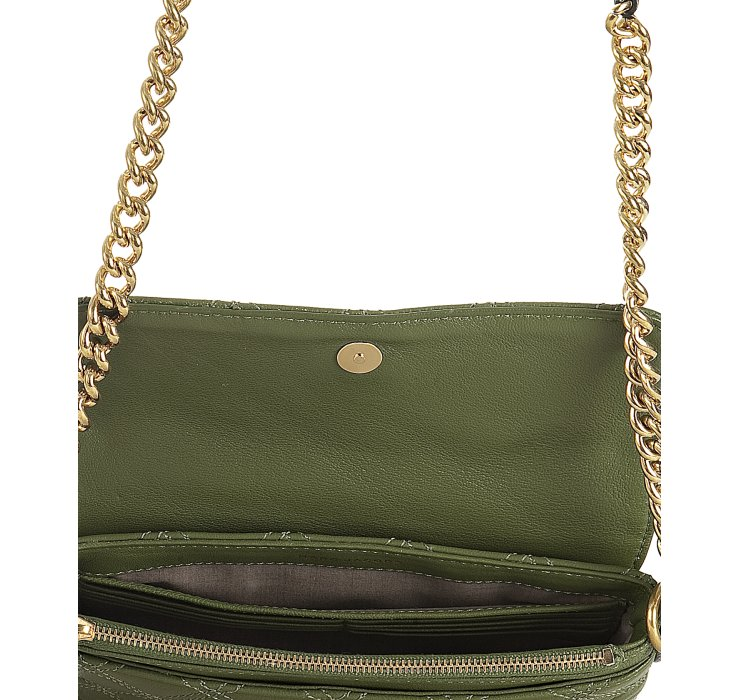 Marc Jacobs Olive Quilted Leather The Single Flap Shoulder