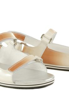 Prada Patent Leather Sandals - Lyst