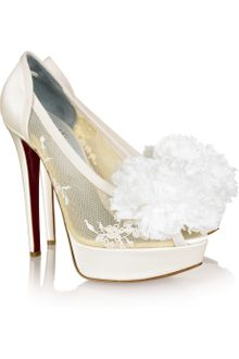 Christian Louboutin Tsar 140 Satin Pumps - Lyst