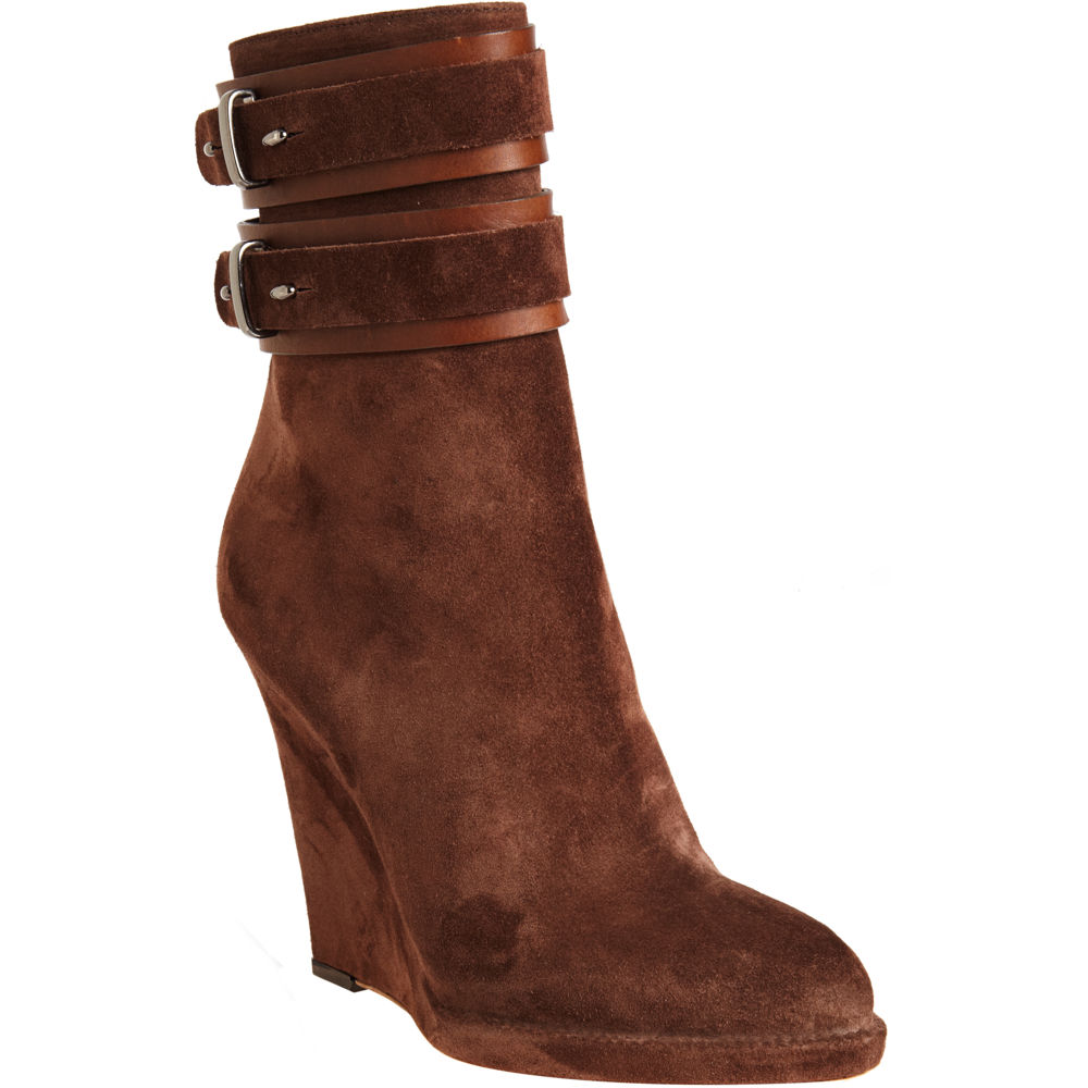 givenchy wedge ankle boot in brown lyst