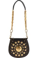 Givenchy Evening Mini Stud Saddle Bag in Black (gold) - Lyst