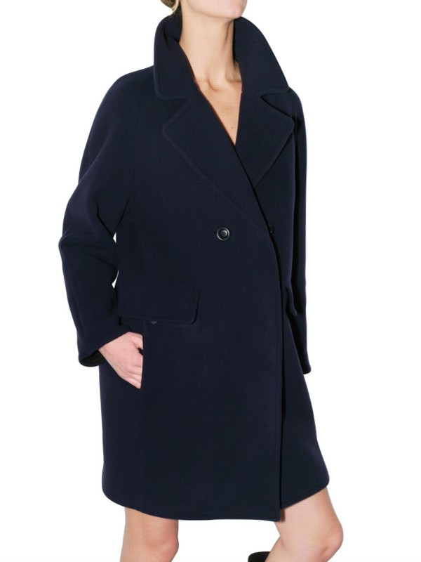 See by chloé Felted Wool Coat in Blue | Lyst