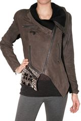 Yigal Azrouel Cracked Suede Leather Jacket - Lyst