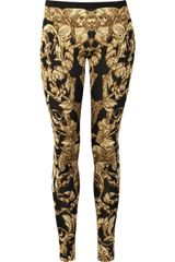 Alexander McQueen Silk and Wool Knit Leggings