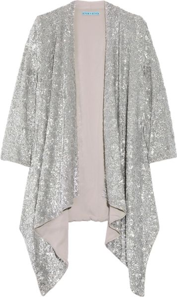 Zara Silver Sequin Cardigan 56