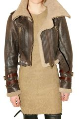 Burberry Prorsum Shearling Aviator Leather Jacket - Lyst