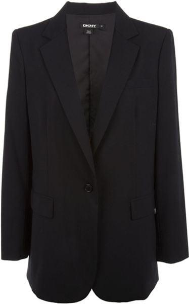 Dkny Single Breasted Blazer in Black