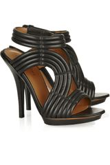 Elizabeth And James Star Ribbed Leather Sandals - Lyst