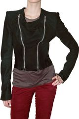 Haider Ackermann Suede Double Zip Leather Jacket - Lyst