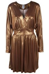 Halston Heritage Metallic Cocktail Dress - Lyst