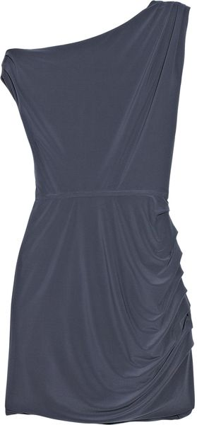 Halston Heritage Ruched Matte-jersey Mini Dress - Lyst