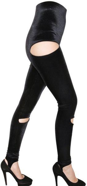 Leg Stretches Stretch Velvet Leggings in