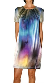 Matthew Williamson Powder Ombre Satin Sleeve Shift Dress - Lyst