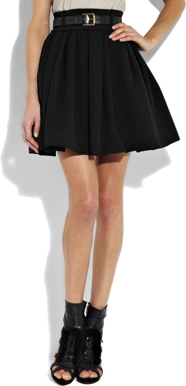 Short Black Flowy Skirt Redskirtz
