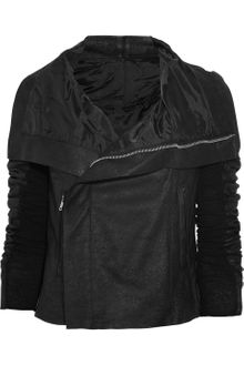 Rick Owens Blister Leather Biker Jacket - Lyst
