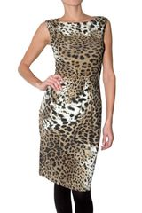 Roberto Cavalli Stretch Lycra Leopard Print Dress - Lyst
