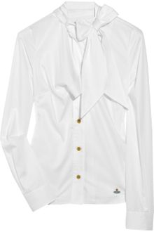 Vivienne Westwood Red Label Tie-neck Cotton Shirt - Lyst