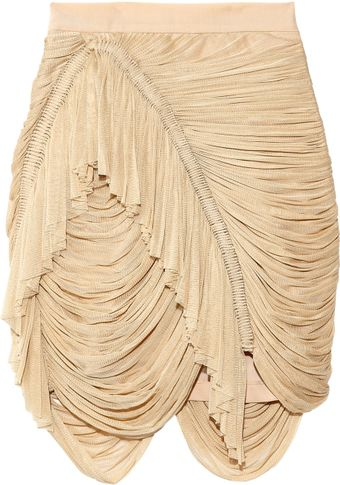 Willow Silk-tulle Drape Skirt - Lyst