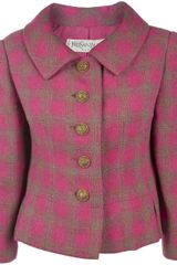 Yves Saint Laurent Vintage Wool Jacket in Pink (fuchsia) - Lyst