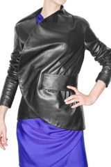 Emanuel Ungaro Belted Leather Jacket - Lyst