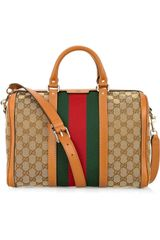 Gucci Vintage Web Medium Canvas Bag - Lyst